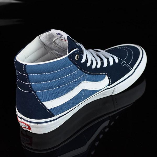 Vans Sk8-Hi Pro Shoes Navy, White Rotate 1:30