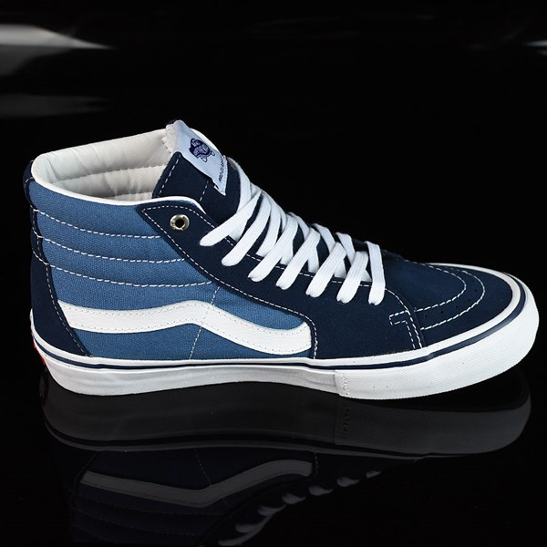 Vans Sk8-Hi Pro Shoes Navy, White Rotate 3 O'Clock