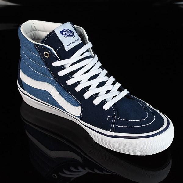 Vans Sk8-Hi Pro Shoes Navy, White Rotate 4:30