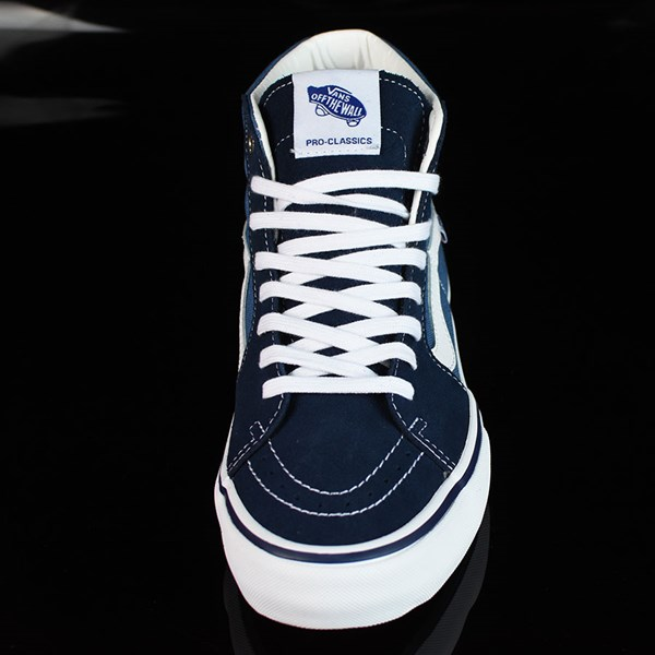 Vans Sk8-Hi Pro Shoes Navy, White Rotate 6 O'Clock
