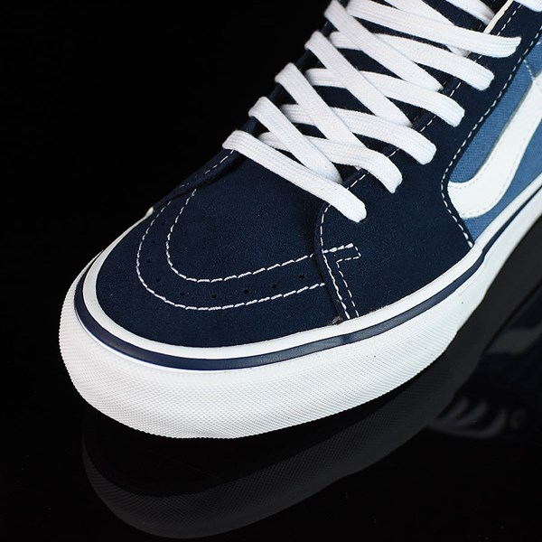 Vans Sk8-Hi Pro Shoes Navy, White Closeup