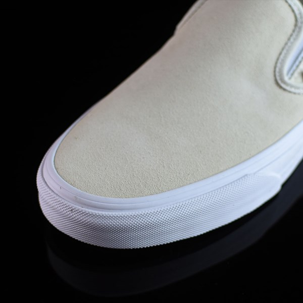Vans Classic Slip On Shoes Afterglow, White Closeup