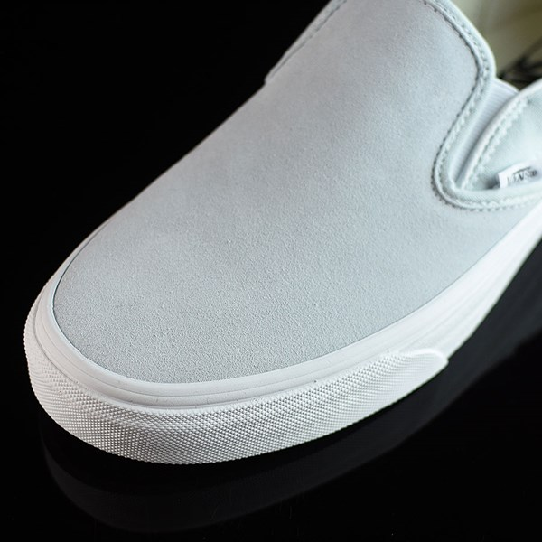 Vans Classic Slip On Shoes Illusion Blue, White Closeup