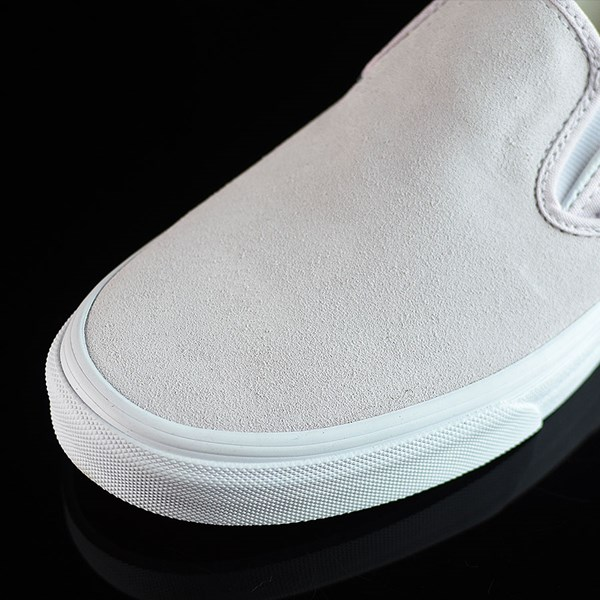 Vans Classic Slip On Shoes Orchard Ice, White Closeup