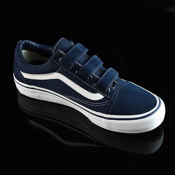 Vans Old Skool V Pro Shoes Navy, White Rotate 4:30