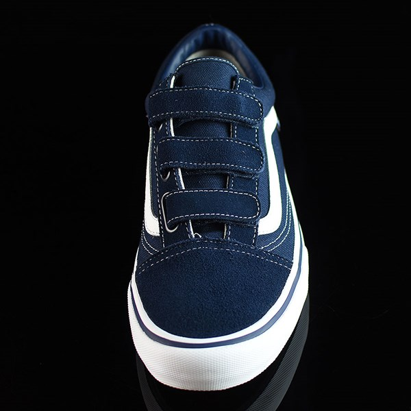Vans Old Skool V Pro Shoes Navy, White Rotate 6 O'Clock