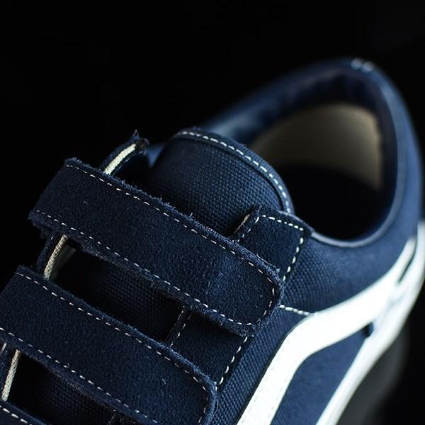 Vans Old Skool V Pro Shoes Navy, White Tongue
