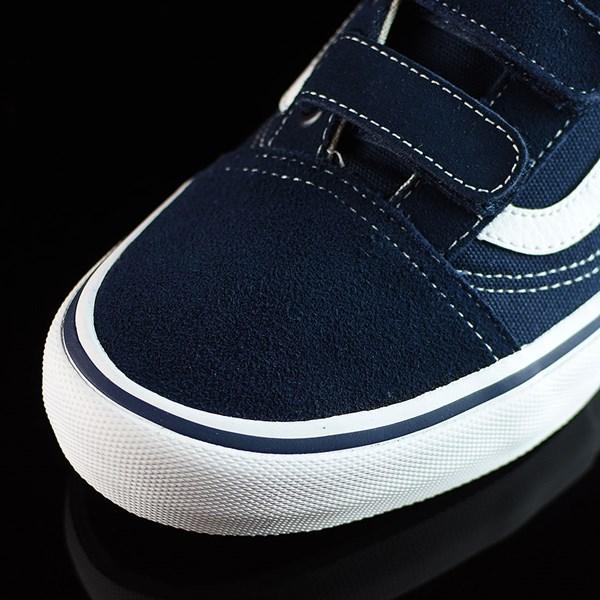 Vans Old Skool V Pro Shoes Navy, White Closeup