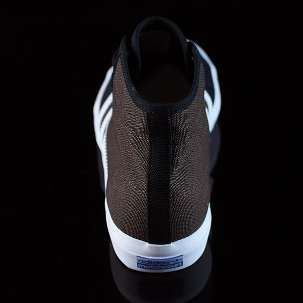 adidas Matchcourt High RX Shoes Black, Brown, White Rotate 12 O'Clock