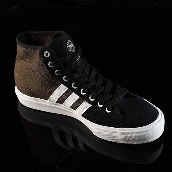 adidas Matchcourt High RX Shoes Black, Brown, White Rotate 4:30