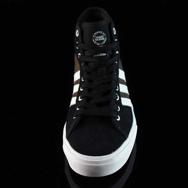 adidas Matchcourt High RX Shoes Black, Brown, White Rotate 6 O'Clock
