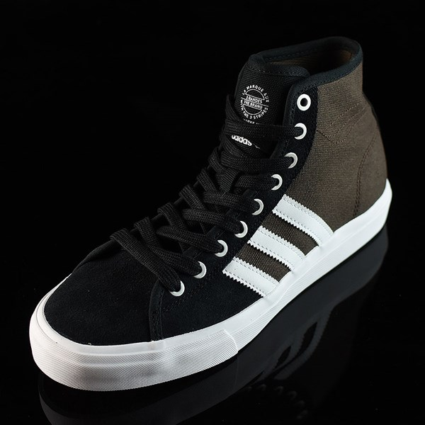 adidas Matchcourt High RX Shoes Black, Brown, White Rotate 7:30