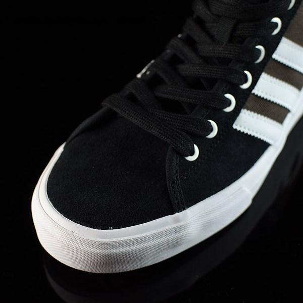 adidas Matchcourt High RX Shoes Black, Brown, White Closeup