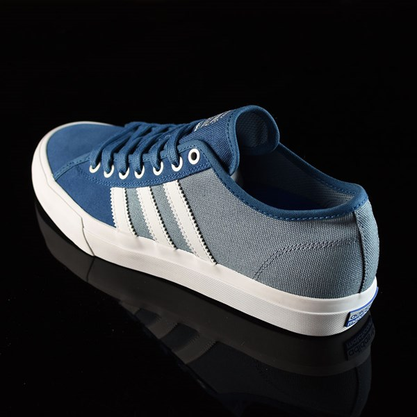 adidas Matchcourt Low RX Shoes Core Blue, White, Tactical Blue Rotate 7:30