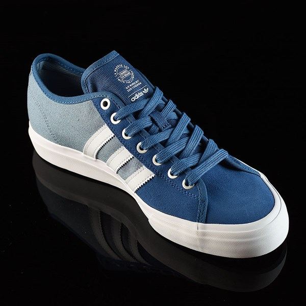 adidas Matchcourt Low RX Shoes Core Blue, White, Tactical Blue Rotate 4:30
