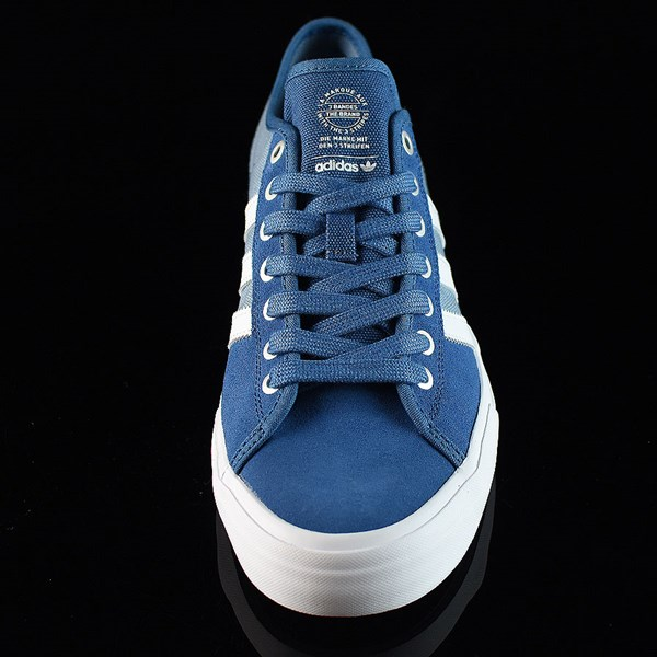adidas Matchcourt Low RX Shoes Core Blue, White, Tactical Blue Rotate 6 O'Clock