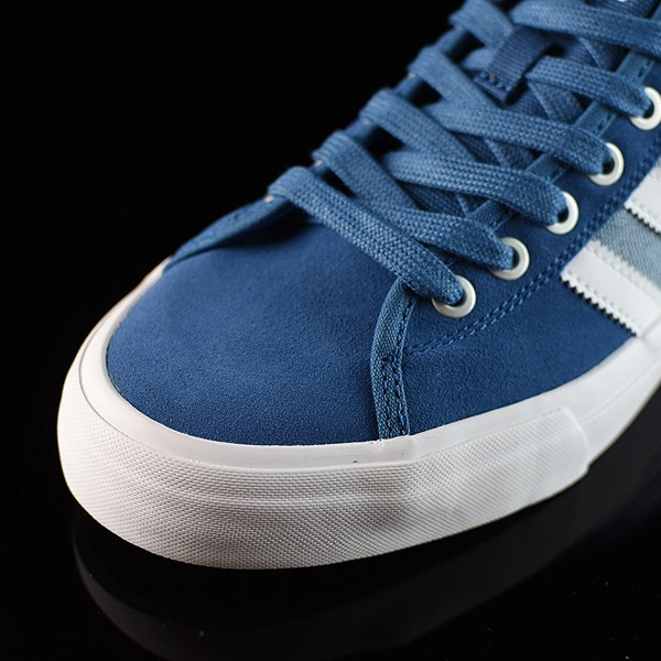adidas Matchcourt Low RX Shoes Core Blue, White, Tactical Blue Closeup