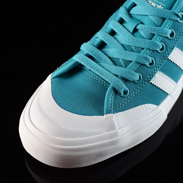 adidas Matchcourt Low Shoes Energy Blue, White Closeup