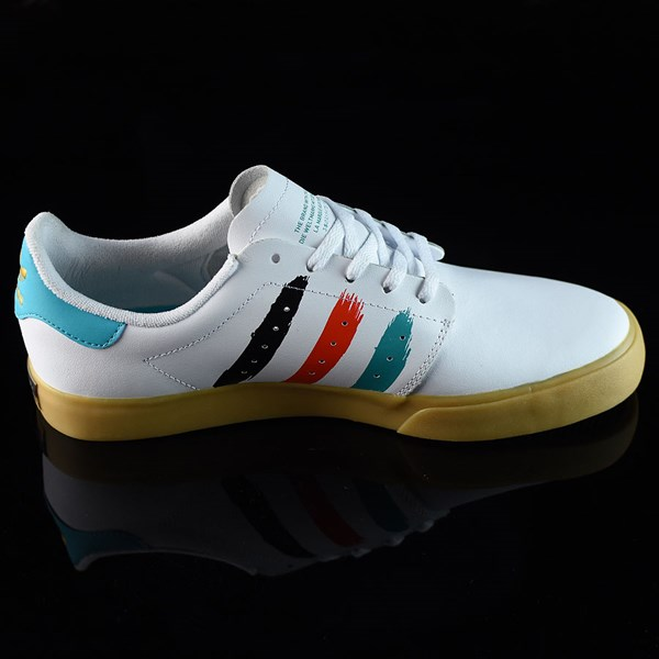 adidas Seeley Court Shoes Running White, Energy Blue Rotate 3 O'Clock