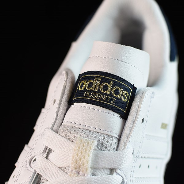 adidas Dennis Busenitz Vulc Shoes Running White, White, Navy Tongue