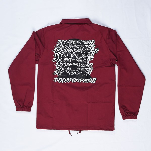 Doom Sayers Ghost Face Coaches Jacket Maroon Back