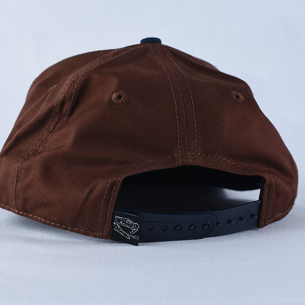 Doom Sayers Up Yours Snap Back Hat Brown, Navy Back