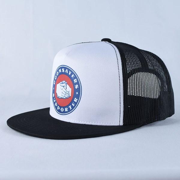 Doom Sayers Poker Chip Trucker Hat Black, White Side