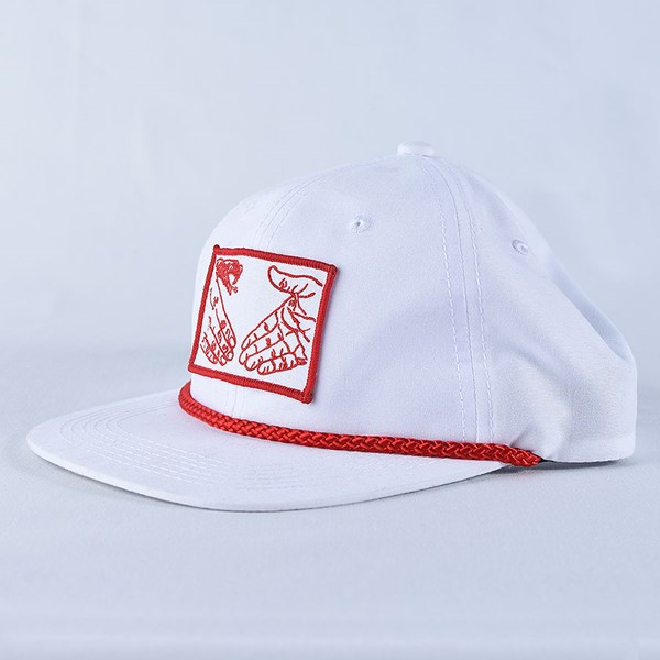 Doom Sayers Snake Shake Unstructured Hat White, Red Side