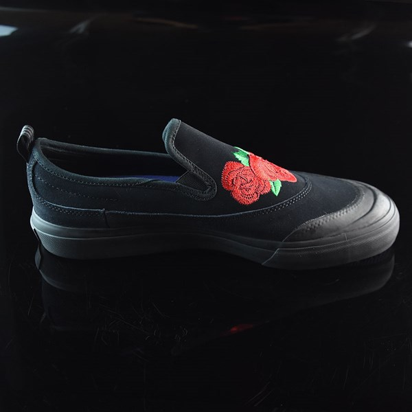 adidas Na-Kel Smith Matchcourt Slip Shoes Core Black, Scarlet, Light Purple Rotate 3 O'Clock