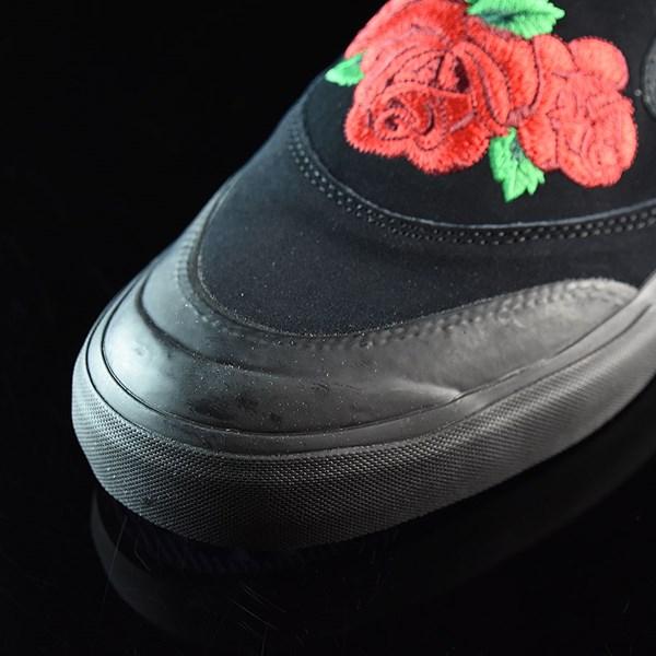 adidas Na-Kel Smith Matchcourt Slip Shoes Core Black, Scarlet, Light Purple Closeup