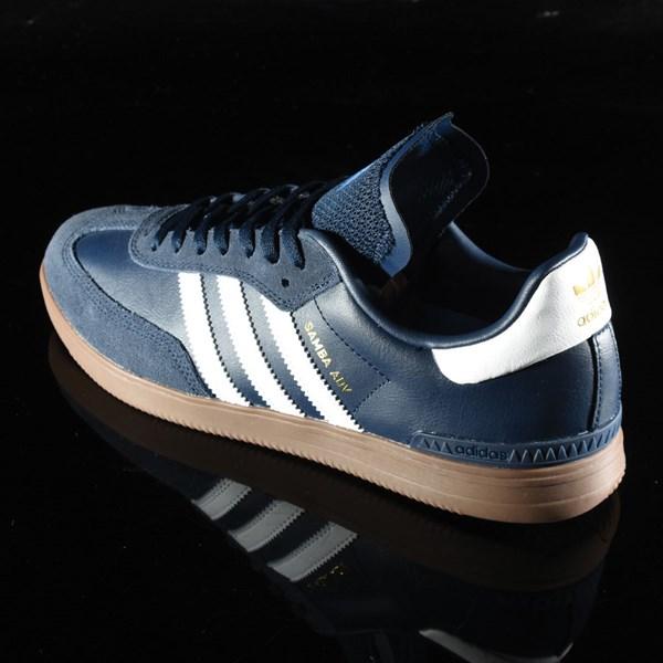 adidas Samba ADV Shoe Navy, White, Gum Rotate 7:30