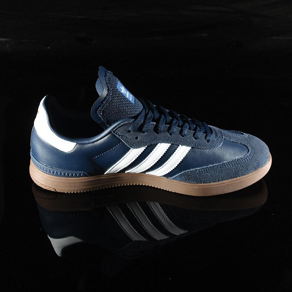 adidas Samba ADV Shoe Navy, White, Gum Rotate 3 O'Clock