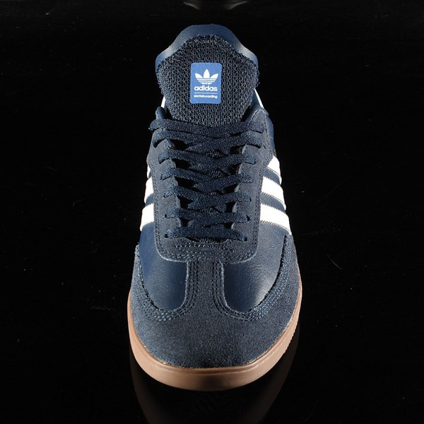 adidas Samba ADV Shoe Navy, White, Gum Rotate 6 O'Clock