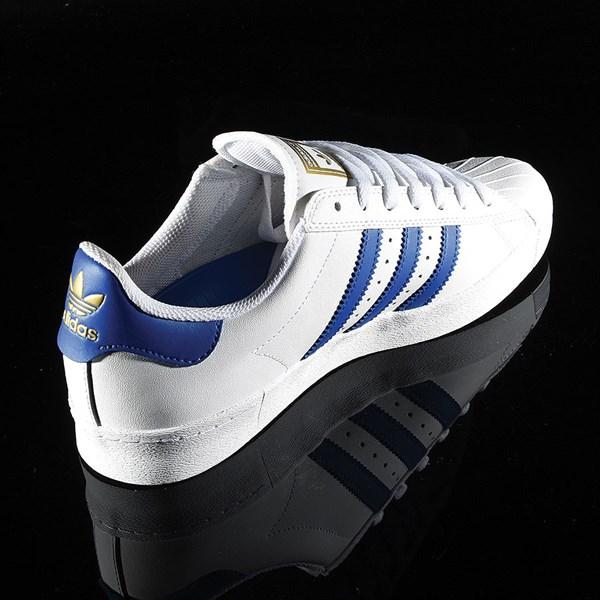 adidas Superstar Vulc ADV Shoe White, Royal, Gold Rotate 1:30