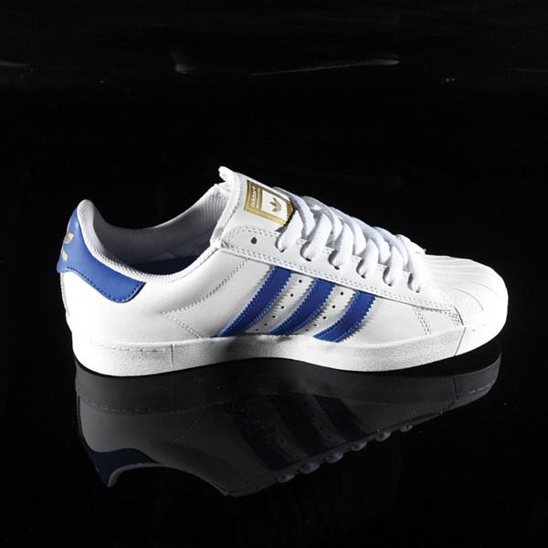 adidas Superstar Vulc ADV Shoe White, Royal, Gold Rotate 3 O'Clock