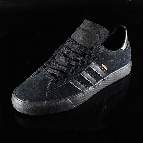 adidas Campus Vulc II Shoe Black, Black, Black Rotate 7:30