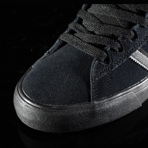 adidas Campus Vulc II Shoe Black, Black, Black Closeup