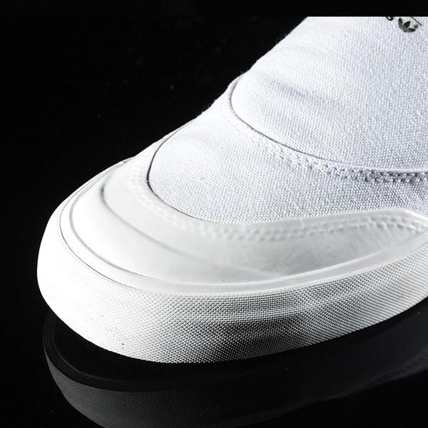 adidas Matchcourt Slip Shoes White, White Closeup