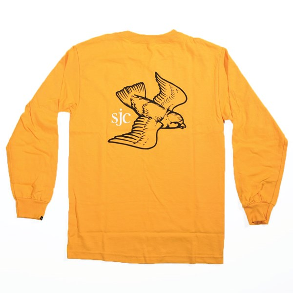 Vans Andrew Allen Long Sleeve T Shirt Gold Back