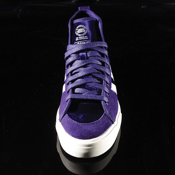 adidas Matchcourt RX Na-Kel Shoes Dark Purple, Ecru, Metallic Gold Rotate 6 O'Clock