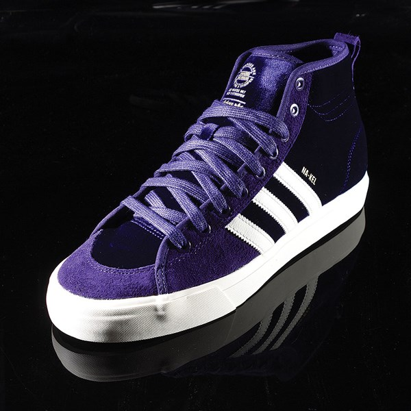 adidas Matchcourt RX Na-Kel Shoes Dark Purple, Ecru, Metallic Gold Rotate 7:30