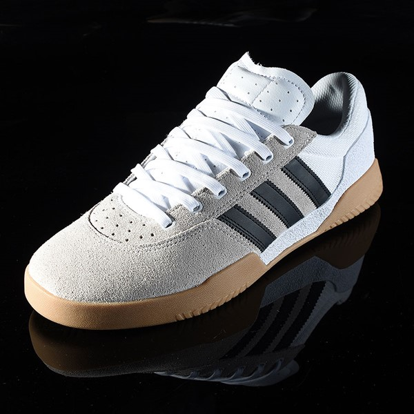 adidas City Cup Shoe White, Black, Gum Rotate 7:30