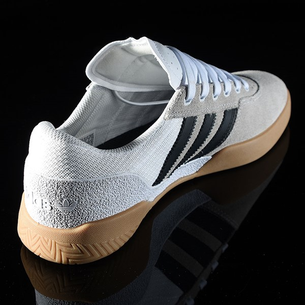 adidas City Cup Shoe White, Black, Gum Rotate 1:30