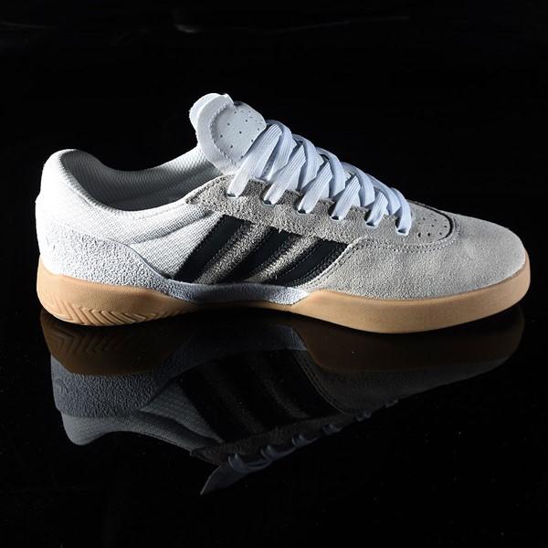 adidas City Cup Shoe White, Black, Gum Rotate 3 O'Clock