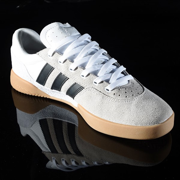 adidas City Cup Shoe White, Black, Gum Rotate 4:30
