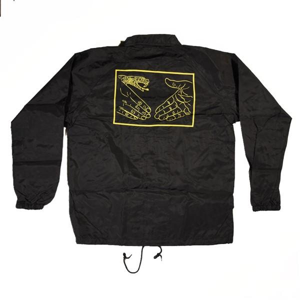 Doom Sayers Snake Shake Coaches Jacket Black, Yellow Back