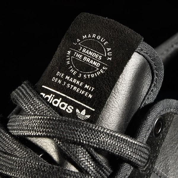 adidas Matchcourt Low RX Shoes Marc Johnson, Black, Black, Metallic Silver Tongue