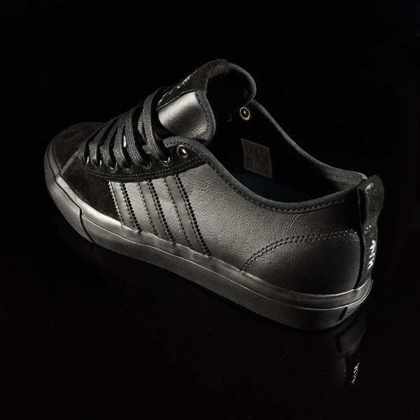 adidas Matchcourt Low RX Shoes Marc Johnson, Black, Black, Metallic Silver Rotate 7:30
