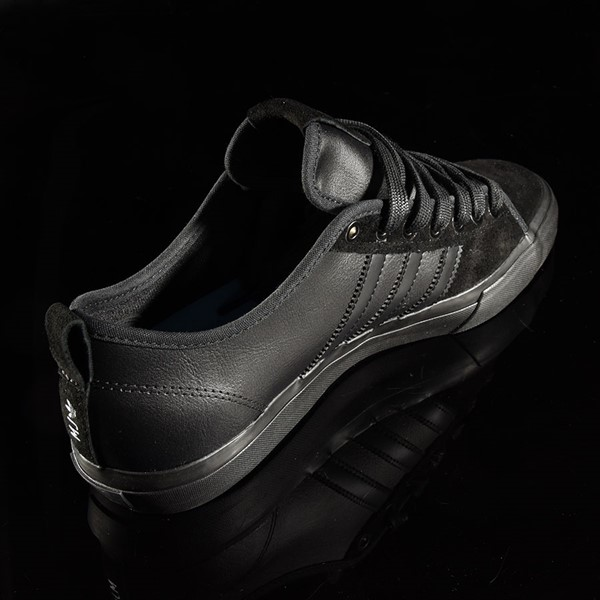 adidas Matchcourt Low RX Shoes Marc Johnson, Black, Black, Metallic Silver Rotate 1:30