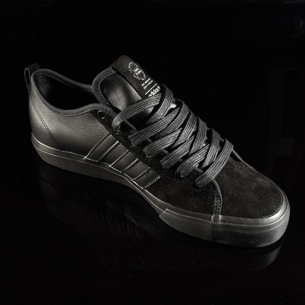 adidas Matchcourt Low RX Shoes Marc Johnson, Black, Black, Metallic Silver Rotate 4:30